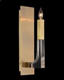 Acrylic and Brass Single-Light Wall Sconce