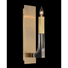 Acrylic and Brass Single-Light Wall Sconce