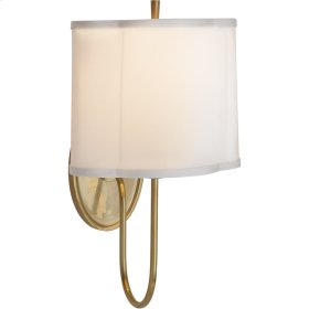 Visual Comfort BBL2017SB-S Barbara Barry Simple 1 Light 9 inch Soft Brass Decorative Wall Light