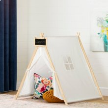 Scandinavian Play Tent with Chalkboard - Organic Cotton and Pine