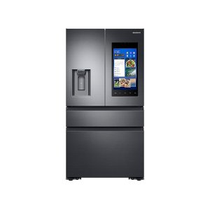 Samsung22 cu. ft. Capacity Counter Depth 4-Door French Door Refrigerator with Family Hub Recessed Handles (2017)