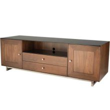 """Natural Walnut AV Stand For TVs up to 80"""" and 150 lbs / 68 kg"""