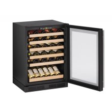 "24"" Wine Captain ® Model Black Frame Field Reversible Door"