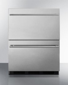 Commercially Approved ADA Compliant Two-drawer Refrigerator In Stainless Steel for Built-in Use