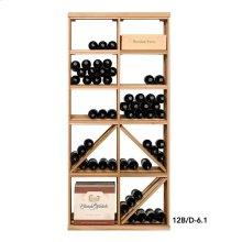 Apex 6' Bottle & Case Diamond Bin Combo Modular Wine Rack