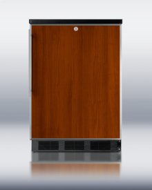 Commercially Approved Solid Door Wine Cellar for Freestanding Use, With Stainless Steel Door Frame for Slide-in Panels, Black Cabinet, and Front Lock