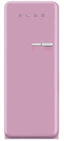50'S Style Refrigerator with ice compartment, Pink, Left hand hinge