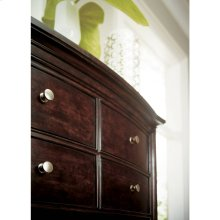 Transitional-Drawer Chest in Polished Sable