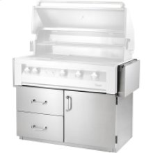 42-In. Deluxe BBQ Cart with 1 Door and 2 Drawers