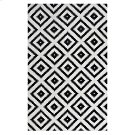 Alika Abstract Diamond Trellis 5x8 Area Rug in Black and White Product Image
