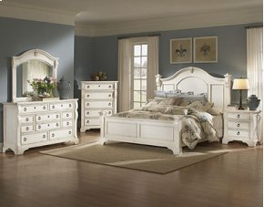 Heirloom White 5 Drawer Chest