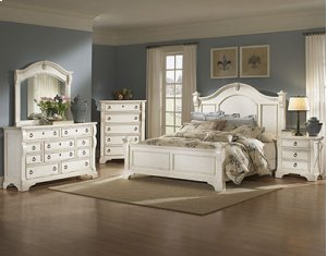 Heirloom White 6-6 Poster Bed