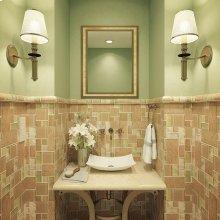 Iris Rectangular Above-counter Vitreous China Bathroom Sink