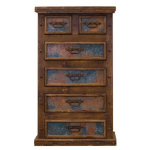Turquoise Copper Panel Chest