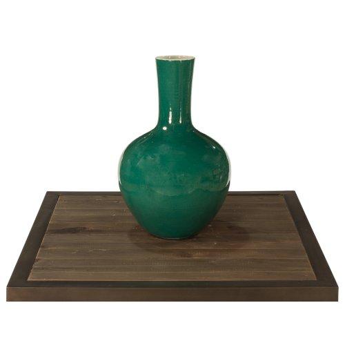 Emerald Green Globular Vase, Medium