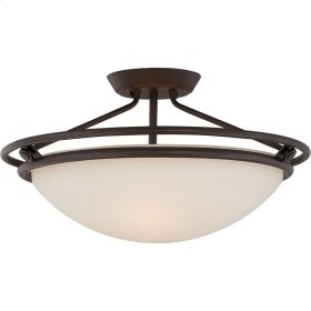 Ashland Semi-Flush Mount in Western Bronze