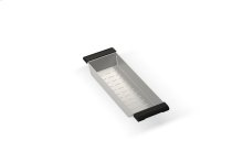 """Colander 205018 - Stainless steel sink accessory , 5 7/8"""" × 17 1/2"""" × 2 1/8"""""""