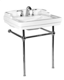 White NEO-VENETIAN Console Lavatory Metal Stand