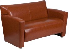 HERCULES Majesty Series Cognac Leather Loveseat