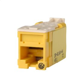 Clarity Cat6a High Density Jack,T568A/B, yellow