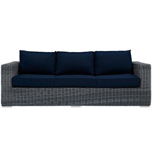Summon Outdoor Patio Sunbrella® Sofa in Canvas Navy
