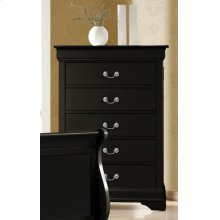 Louis Philippe Black Five-drawer Chest