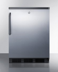 Commercially Listed Freestanding All-refrigerator for General Purpose Use, Auto Defrost W/ss Wrapped Door, Towel Bar Handle, Lock, and Black Cabinet