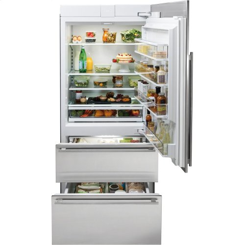 "36"" Designer Over-and-Under Refrigerator Internal Dispenser - Panel Ready"