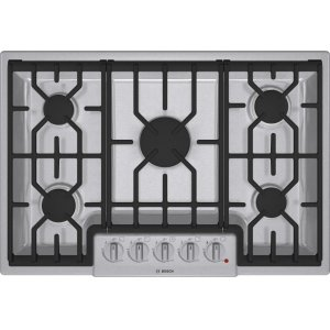 "Bosch30"" Gas Cooktop 800 Series - Stainless Steel NGM8054UC"