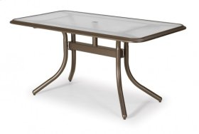 """32"""" x 60"""" Rectangular Table Top Only w/ hole Ogee Rim"""