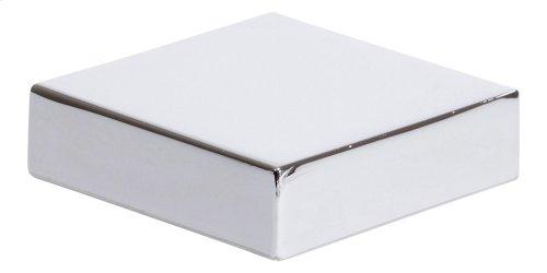 Thin Square Knob 1 1/4 Inch - Polished Chrome