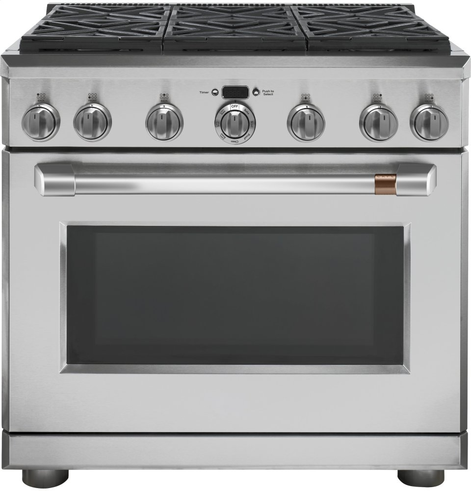 "Caf(eback) 36"" Dual Fuel Professional Range with 6 Burners (Natural Gas)