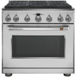 "CAFE APPLIANCESCaf(eback) 36"" Dual-Fuel Professional Range with 6 Burners (Natural Gas)"