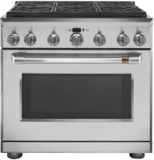 "Café 36"" Dual Fuel Professional Range with 6 Burners (Natural Gas)"