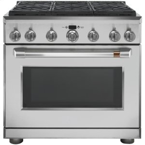 "Cafe Appliances36"" Dual Fuel Professional Range with 6 Burners (Natural Gas)"