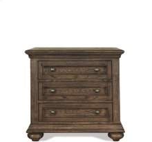 Cassidy Three Drawer Nightstand Aged Cask finish