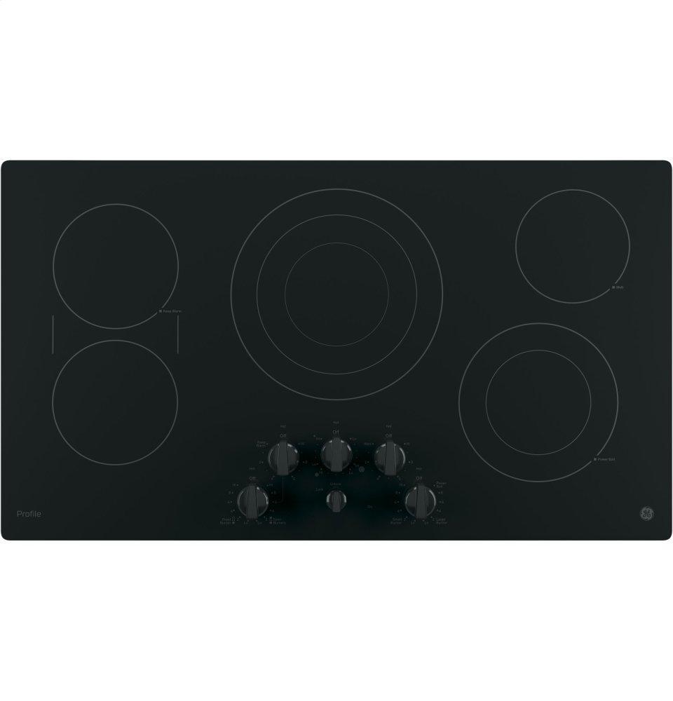 "GE Profile(TM) Series 36"" Built-In Knob Control Cooktop  BLACK"