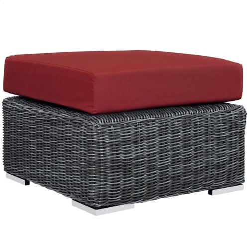 Summon 3 Piece Outdoor Patio Sunbrella® Sectional Set in Canvas Red