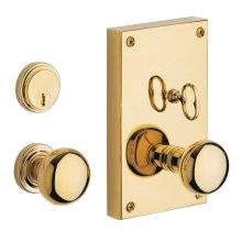 Lifetime Polished Brass Georgetown Entrance Trim