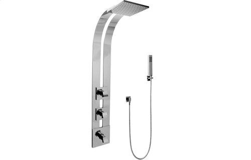 Square Thermostatic Ski Shower Set w/Handshowers (Trim & Rough)