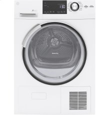 """GE® 4.0 Cu.Ft. Stainless Steel Capacity 24"""" Ventless Condenser Frontload Electric Dryer"""