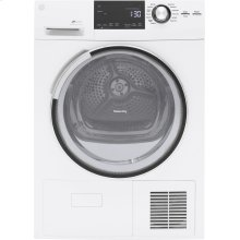 """GE® 4.0 cu.ft. Capacity 24"""" Ventless Condenser Frontload Electric Dryer with Stainless Steel Basket"""