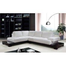 Divani Casa 0507A Modern White Leather Sectional Sofa