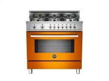 36 6-Burner, Electric Self-Clean Oven Orange