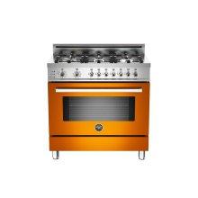 36 6-Burner, Electric Self-Clean Oven Orange