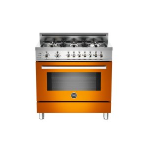 36 6-Burner, Electric Self-Clean Oven Orange - Orange