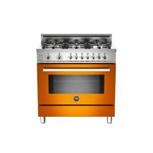 36 6-Burner, Electric Self-Clean Oven Orange - ORANGE