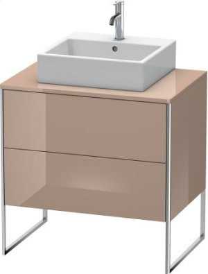 Vanity Unit For Console Floorstanding, Cappuccino High Gloss Lacquer