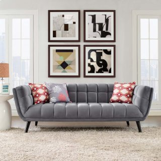 Bestow Performance Velvet Sofa in Gray