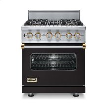 "30"" Custom Sealed Burner Dual Fuel Range, Natural Gas, Brass Accent"